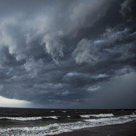 Brighton Beach Hurricane Clouds
